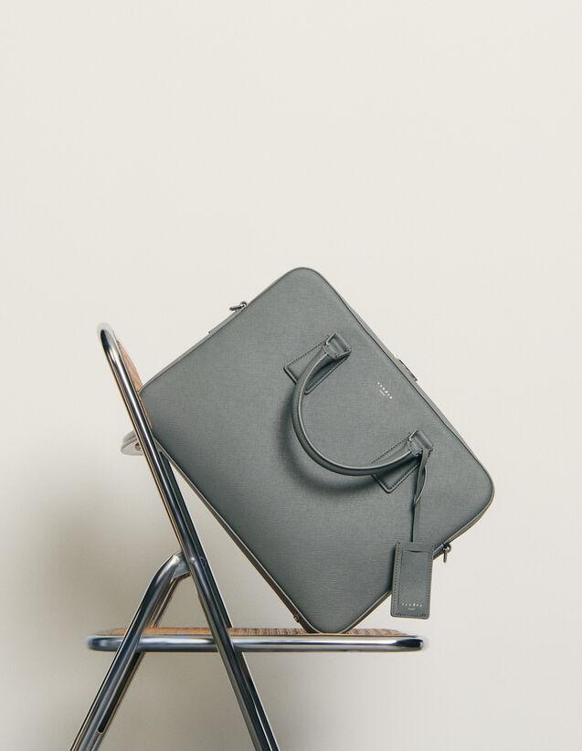 Briefcase en cuir saffiano : Toute la Maroquinerie couleur Marine