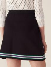 Jupe En Maille Façon Portefeuille : Jupes & Shorts couleur Noir