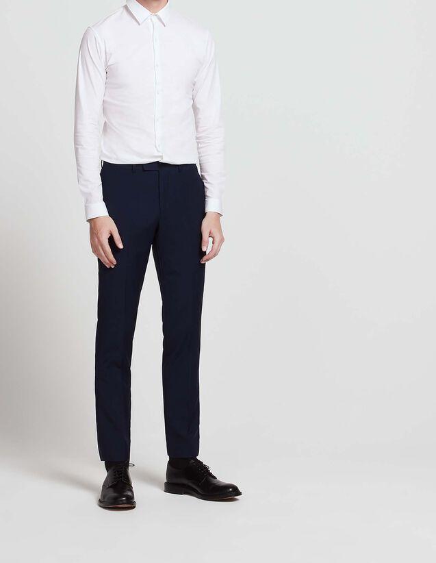 Pantalon de costume en laine et mohair : Toute la Sélection couleur Bleu