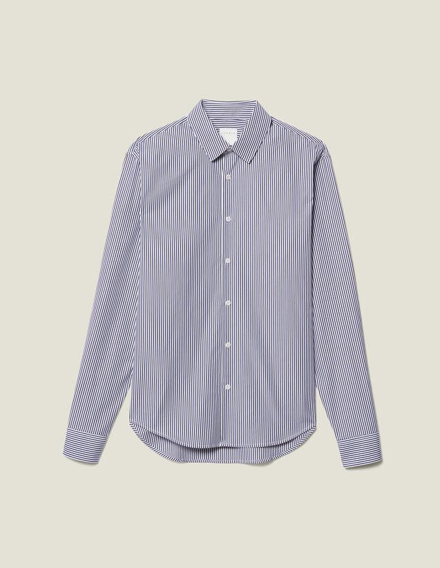 Chemise Rayée : Nouvelle Collection couleur Marine/Blanc