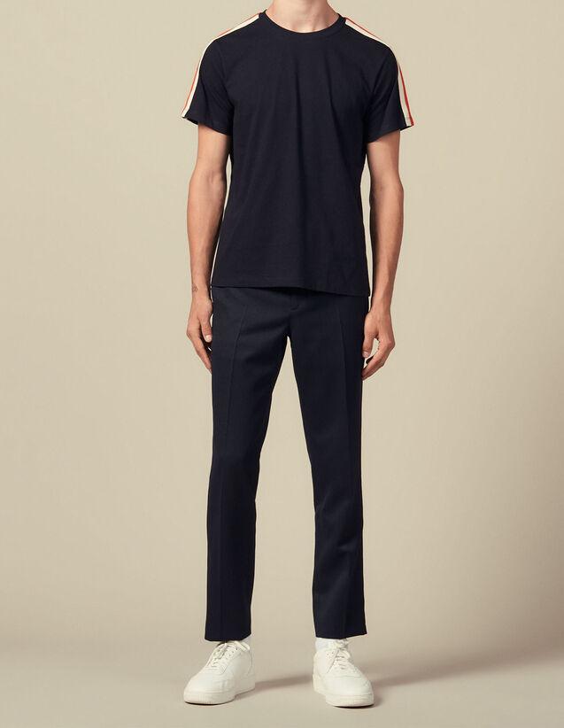 T-Shirt À Rayures Aux Manches : Toute la collection Hiver couleur blanc