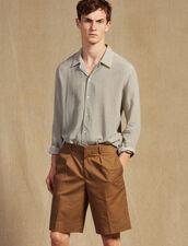 Bermuda À Pinces : Pantalons & Shorts couleur Taupe