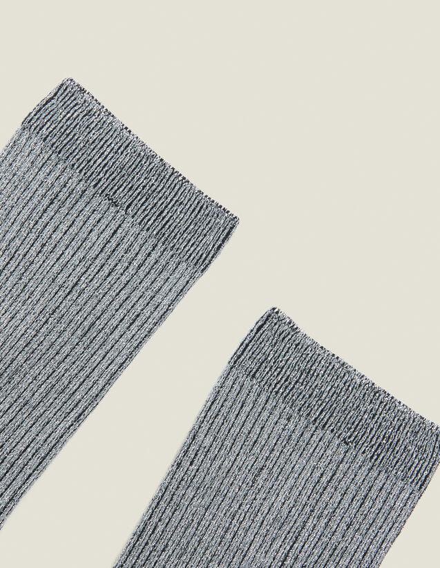 Chaussettes Lurex : Toute la collection Hiver couleur Argent