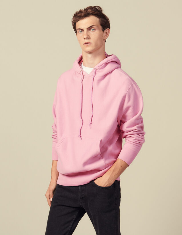 Hoodie En Coton : Sweats couleur Rose