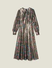 Robe longue en jacquard lurex : Robes couleur Multicolore