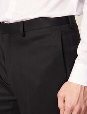 Pantalon De Smoking En Grain De Poudre : Costumes & Smokings couleur Noir