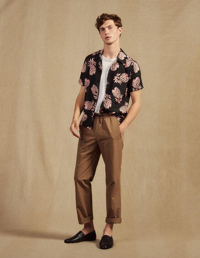 Pantalon De Ville En Coton Lin : LastChance-CH-HSelection-Pap&Access couleur Marine