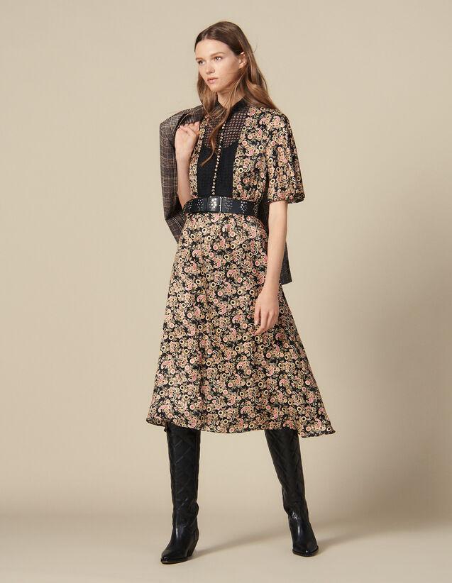 Robe Midi En Imprimé All Over : Robes couleur Noir