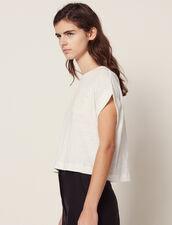 T-Shirt En Lin Court : T-shirts couleur Ecru