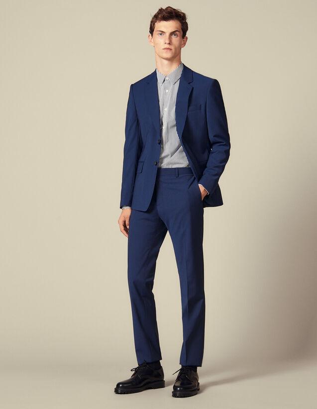 Pantalon De Costume Classique Super 110 : Collection Hiver couleur Pétrole