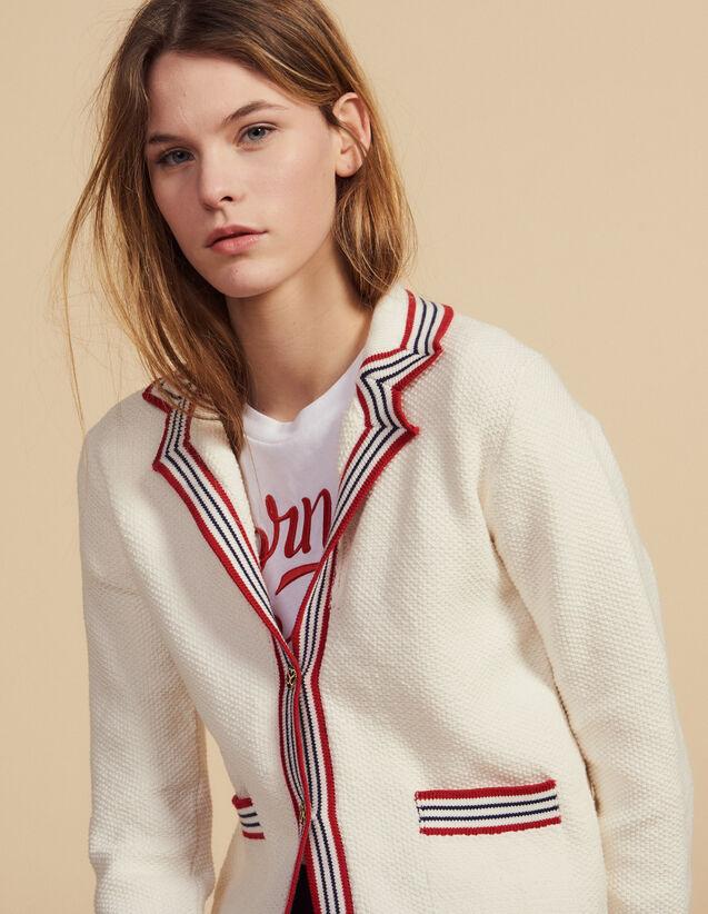 Cardigan Esprit Marin : Pulls & Cardigans couleur Ecru