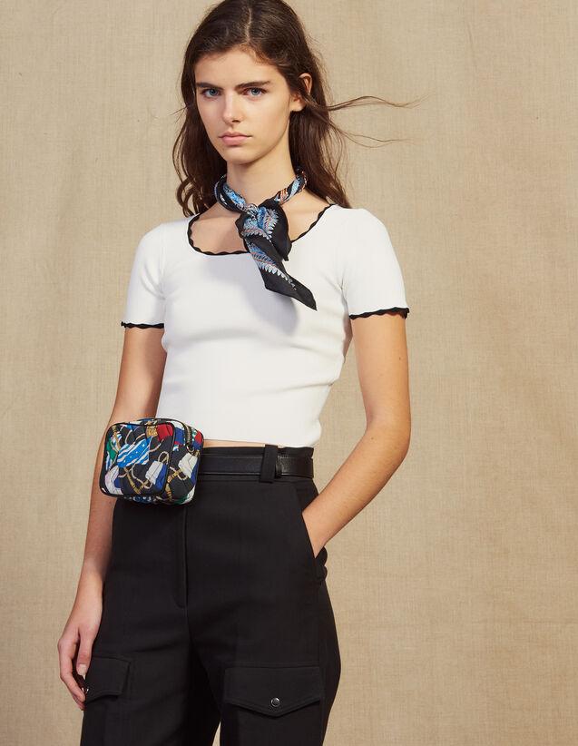 Top Court En Maille Assorti : Tops & Chemises couleur Blanc
