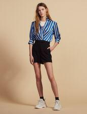 Combinaison Short Bi-Matière : Combinaisons couleur Bleu