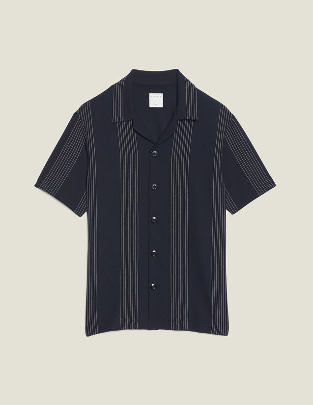 Chemise En Jersey Rayé : Chemises couleur Bleu Ciel