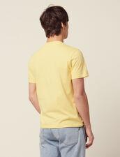 T-Shirt En Coton À Message : LastChance-CH-HSelection-Pap&Access couleur blanc