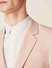 Veste De Costume En Lin Mélangé : Costumes & Smokings couleur Rose pâle