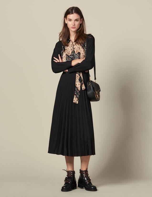 Robe Longue Plissée : Robes couleur Noir