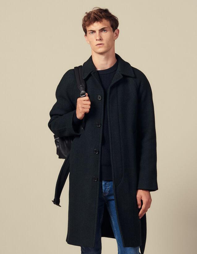 Manteau Avec Ceinture : Collection Hiver couleur Vert foncé