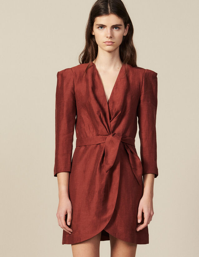 Robe Courte Portefeuille : New in couleur Wine
