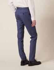 Pantalon De Costume En Laine : -50% couleur Gris Bleuté