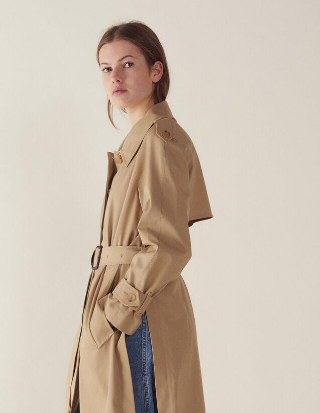 Manteau Esprit Trench Coat Ceinturé : Manteaux couleur Beige