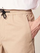 Bermuda Ceinturé D'Un Cordon : Pantalons & Shorts couleur Beige
