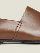 Slippers En Cuir : LastChance-CH-HSelection-Pap&Access couleur Marron