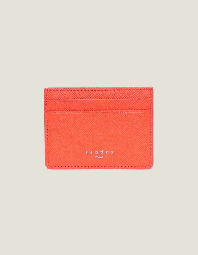 Porte Cartes En Cuir : Collection Été couleur Orange
