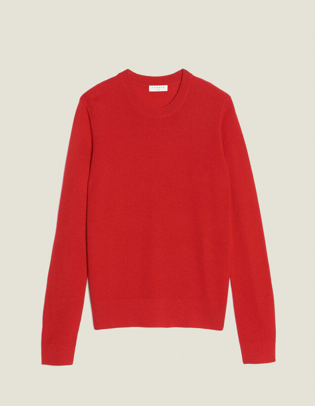 Pull Fin En Point Fantaisie : Pulls & Cardigans couleur Rouge