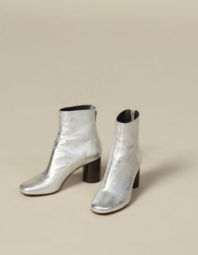 Bottines en cuir métallisé : Toutes les Chaussures couleur Argent