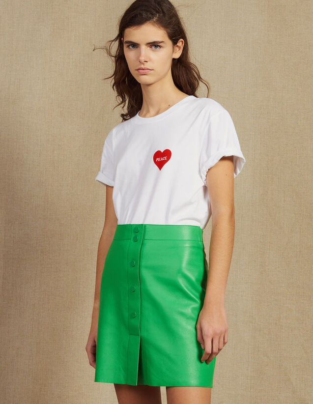 Jupe En Cuir Néon : Jupes & Shorts couleur Vert