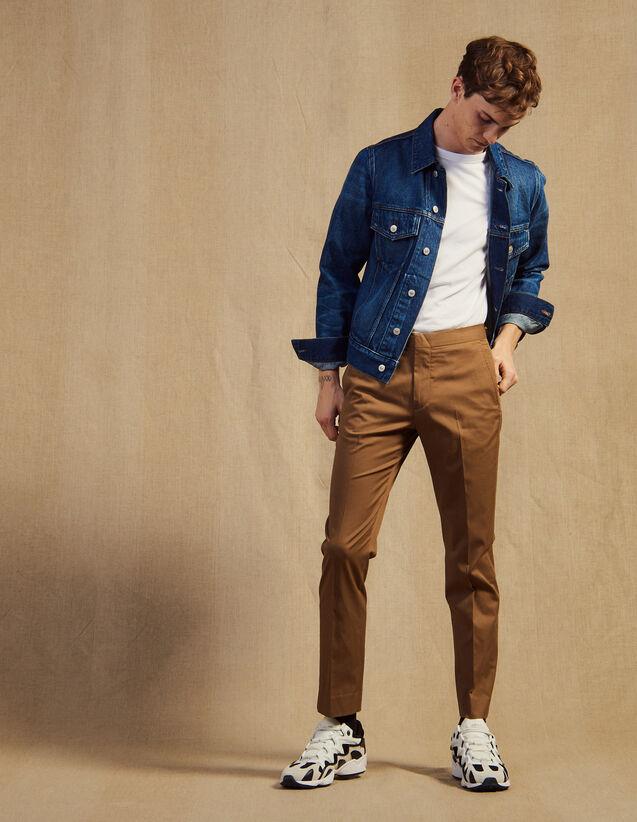 Pantalon Chino Ajusté : LastChance-CH-HSelection-Pap&Access couleur Marine