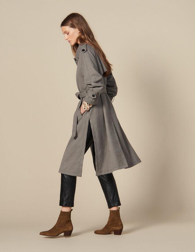 Trench-Coat Fendu Sur Les Côtés : Manteaux couleur Marron