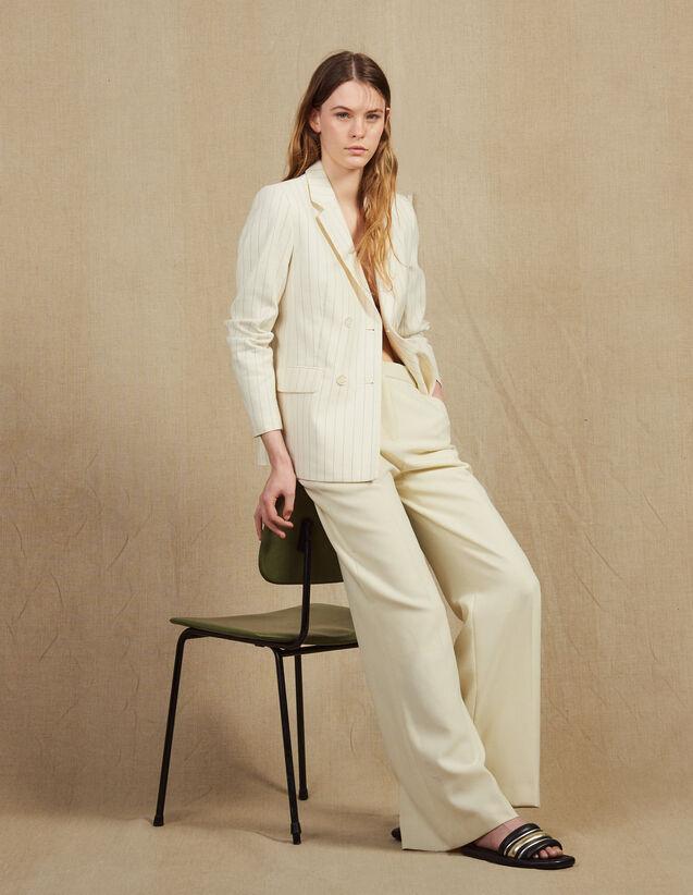 Pantalon De Tailleur : Pantalons couleur Ecru
