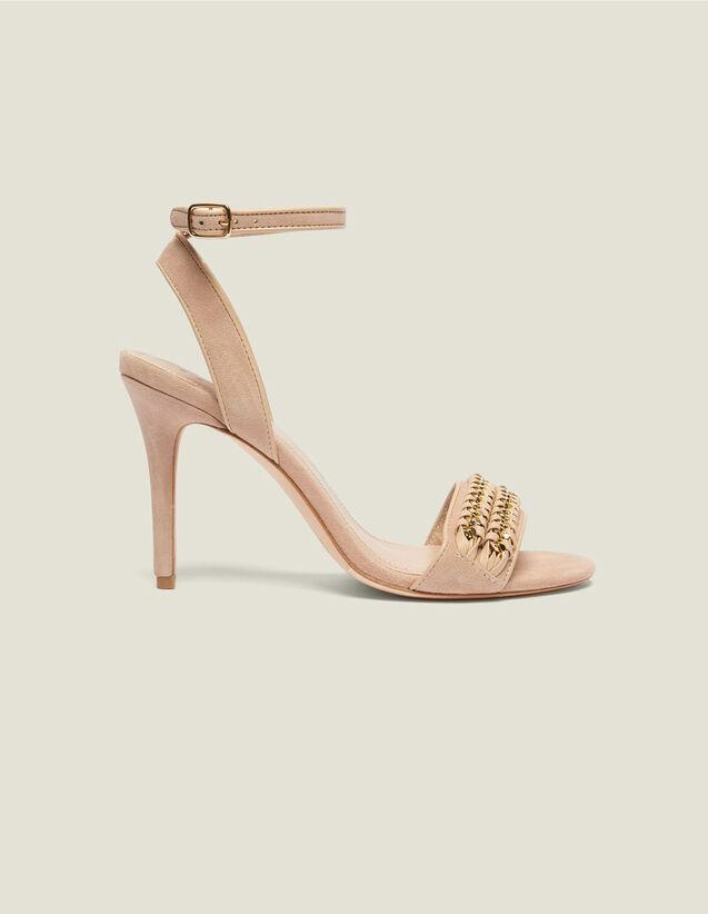 Sandales À Détails De Tressage Chaîne : Toutes les Chaussures couleur Nude