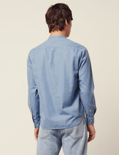 Tunique En Chambray Délavé : Chemises couleur Blue Vintage - Denim