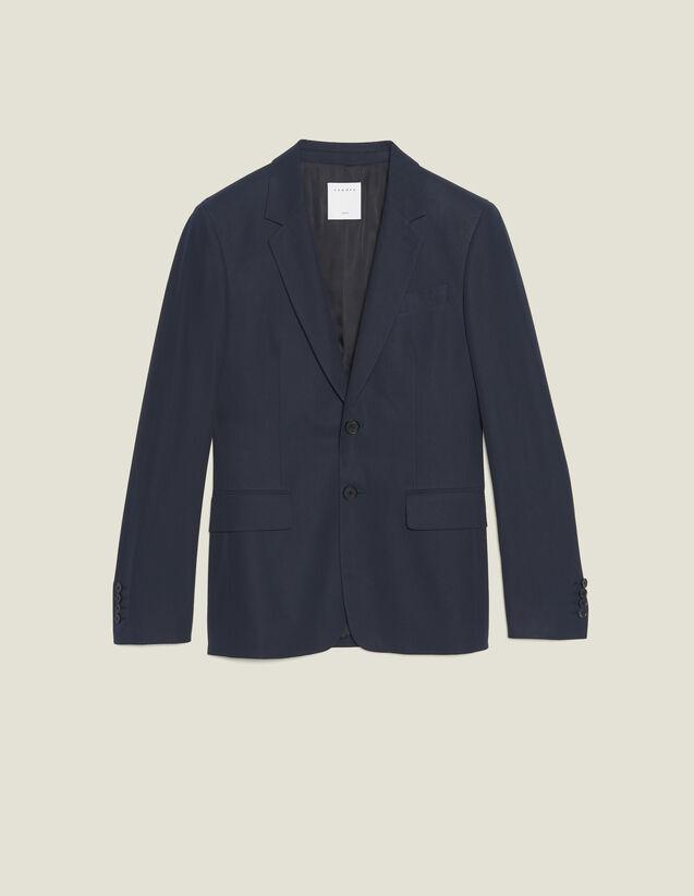 Veste De Costume En Coton : Costumes & Smokings couleur Encre