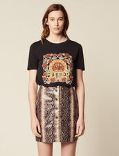 T-Shirt À Motif Placé : T-shirts couleur Noir