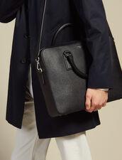 Briefcase en cuir saffiano : Toute la Maroquinerie couleur Noir