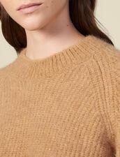 Pull col rond à manches raglans : Pulls & Cardigans couleur Camel