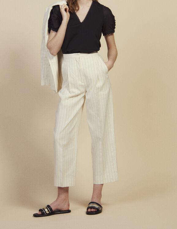 Pantalon De Tailleur Au Fit Large : Toute la sélection couleur blanc