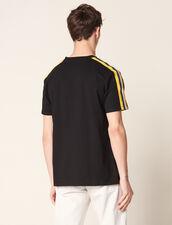 T-Shirt Avec Galon  Graphique : T-shirts & Polos couleur Noir