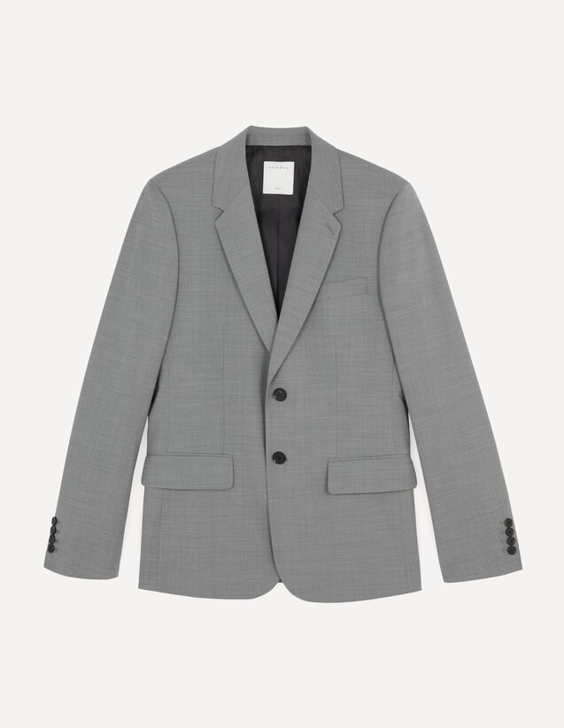 Veste de costume stretch : Costumes & Smokings couleur Gris Clair Chiné