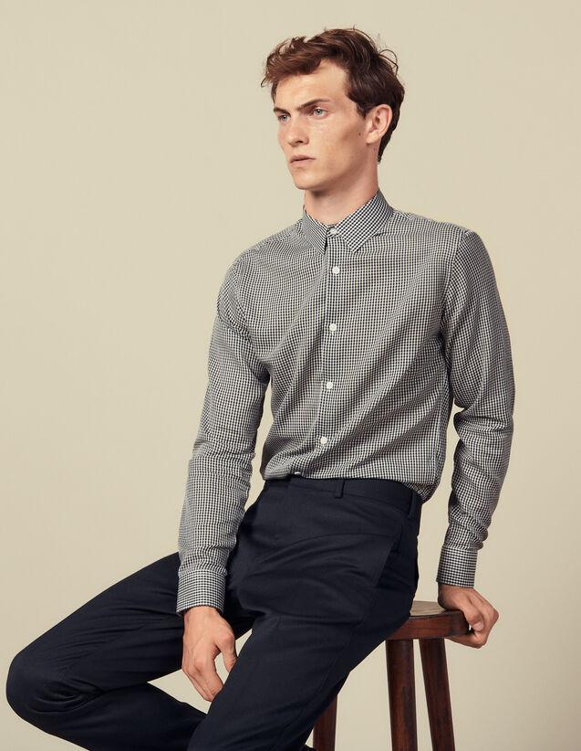Chemise repassage facile à carreaux : Chemises couleur Marine