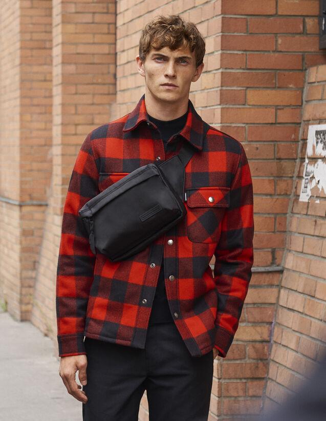 Veste à carreaux doublée en faux mouton   Blousons   Vestes couleur  Noir Rouge 17cc133c291