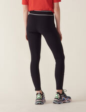 Pantalon Style Legging : Pantalons couleur Noir