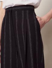 Pantalon À Pinces Rayé Assorti : Sélection Last Chance couleur Noir