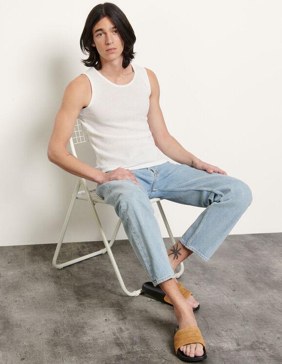 Débardeur en coton : T-shirts & Polos couleur blanc