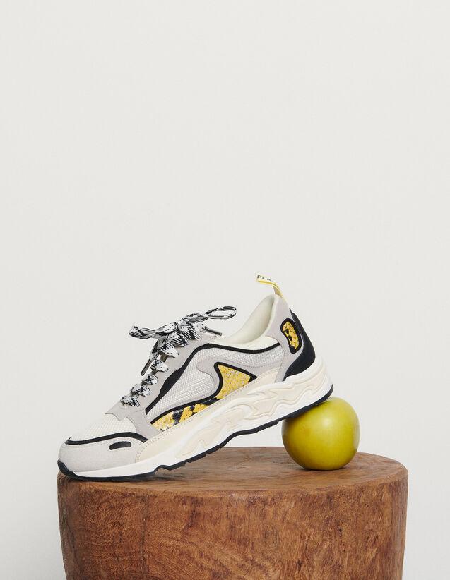 Baskets Flame : Toutes les Chaussures couleur python jaune