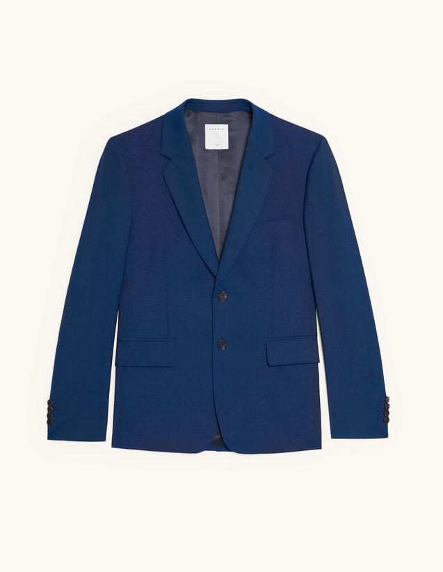 Veste de costume en laine et mohair : Costumes & Smokings couleur Bleu